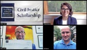 Frankie Brown Named 2020 Winner of Harris Lowry Manton LLP's Annual Civil Justice Scholarship